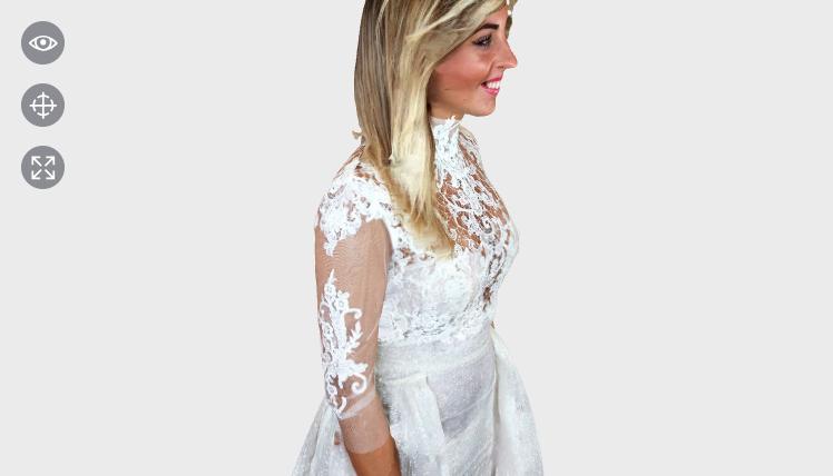 L'immagine contiene: un modello 3d dell'Abito da Sposa